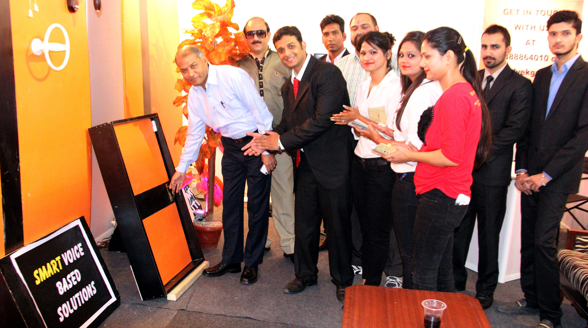 Director Public Relations-cum-Joint Secretary Home, Chandigarh Administration, Mr. M.M. Sabharwal inaugurating the stall of �ELVEK SMARTHOMES� in Hall No.2 at CII Fair-2014, Parade Ground, Sector-17, Chandigarh on Friday, October 17,2014.