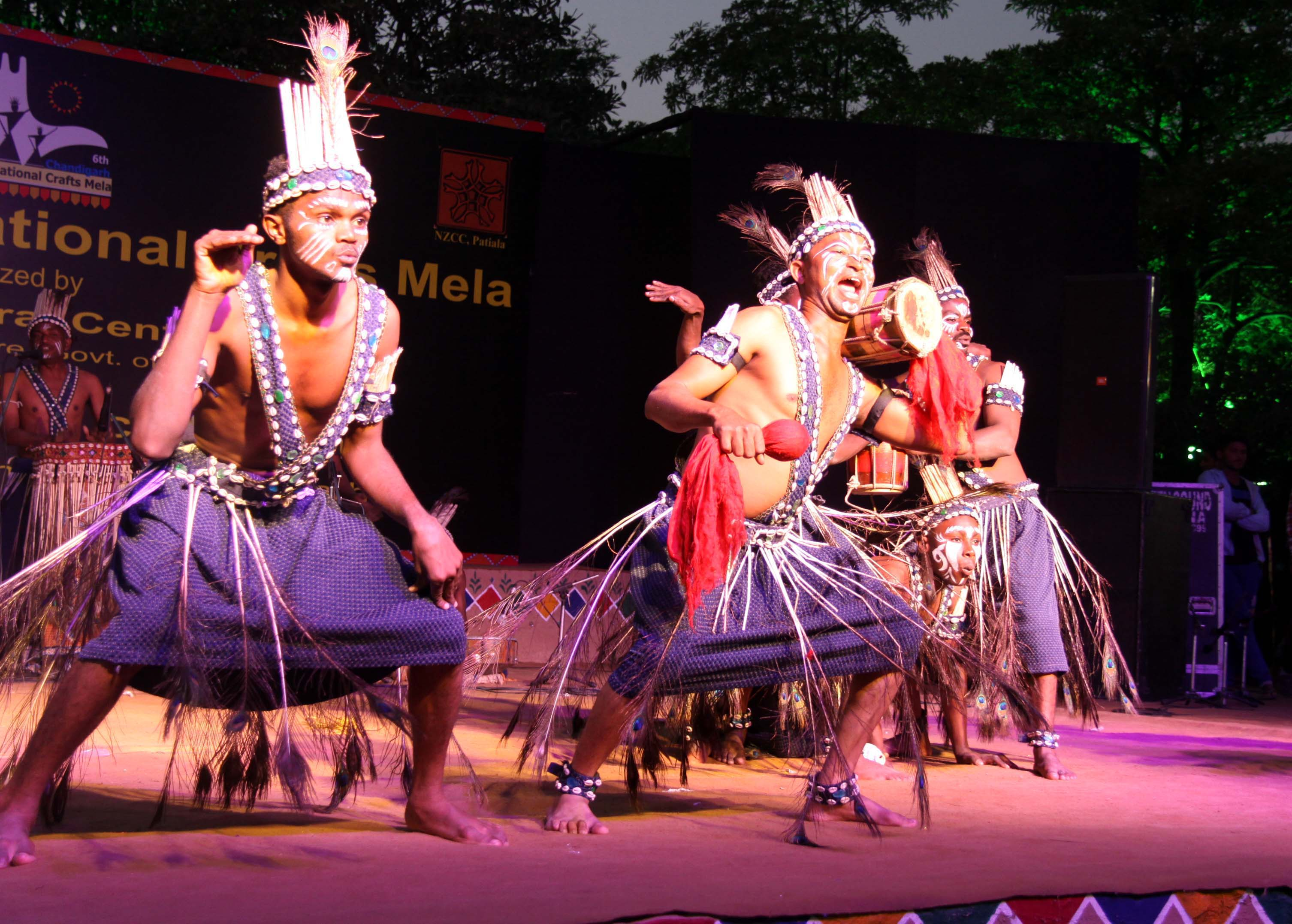 Artists performing Folk Dances at the closing ceremony of 6th Chandigarh National Craft Mela at Kalagram, Chandigarh on Sunday, November 23, 2014.