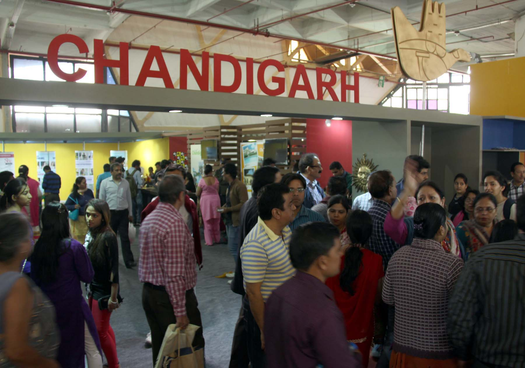 People from the various part of the country having a look at Chandigarh Pavilion in the 34th India International Trade Fair-2014 at Pragati Maidan, New Delhi on Tuesday, November 25, 2014.