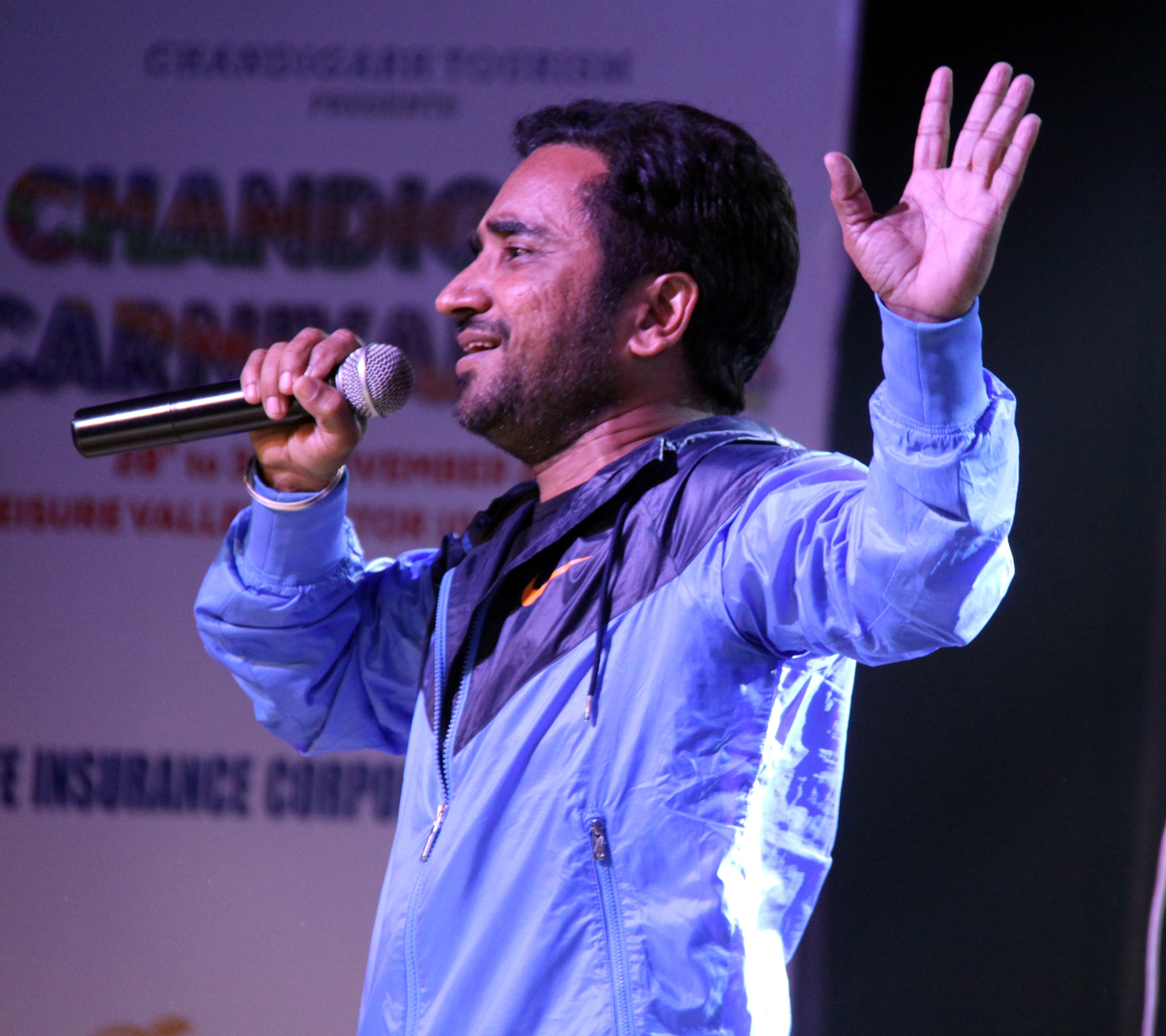 Rana Ranbir performing on the Ist day of the Chandigarh Carnival-2014 at Leisure Valley, Sector-10, Chandigarh on Friday, November 28, 2014.