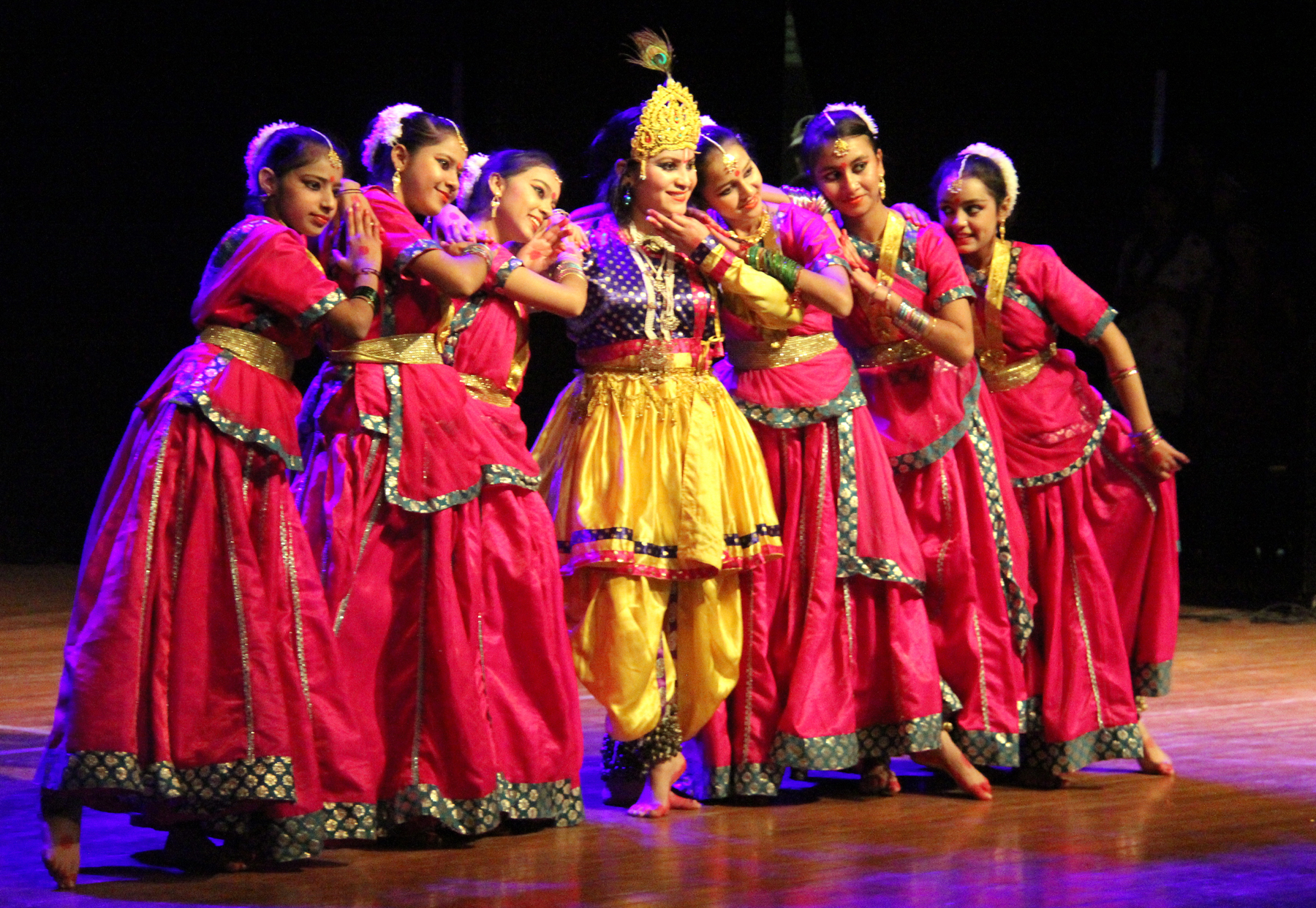 Students of UT Govt. schools alongwith their tutors performing on the concluding day of Dance and Music Stage Show at Tagore Theatre, Sector-18, Chandigarh on Wednesday, December 17, 2014.