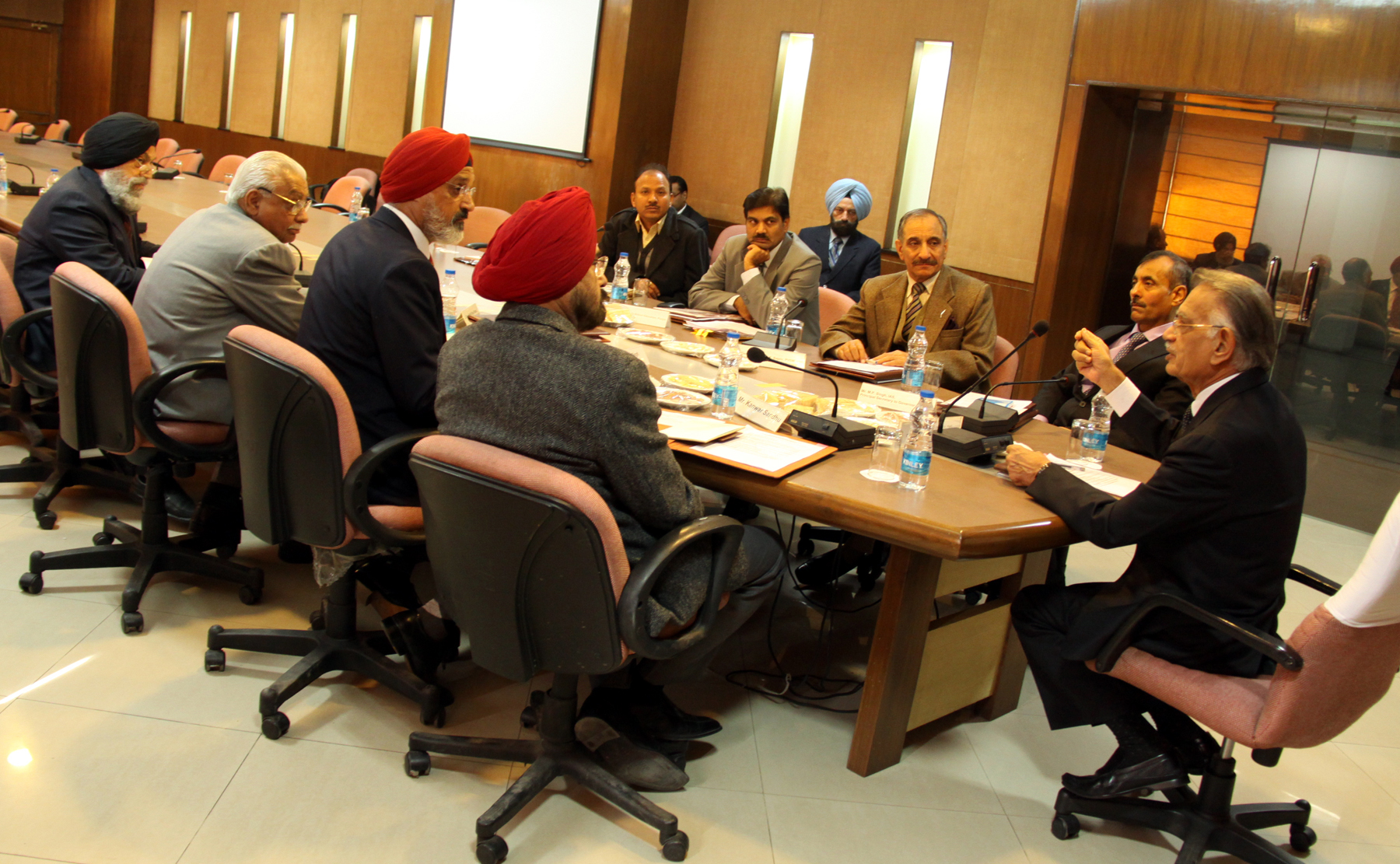 The Punjab Governor and Administrator, UT, Chandigarh, Mr. Shivraj V. Patil presiding over the Board of Governors meeting of the Punjab Public School Nabha at Chandigarh on 18.12.2014.