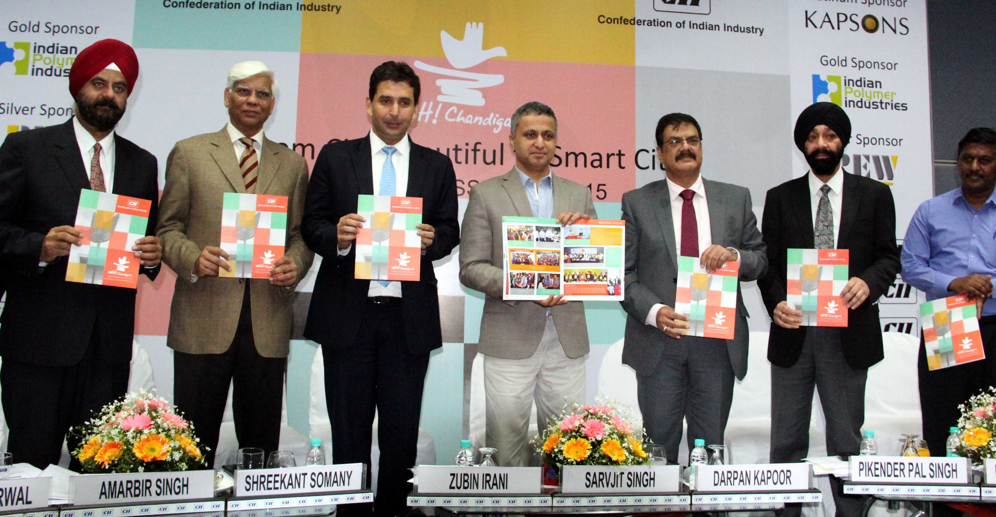 UT Finance Secretary, Mr. Sarvjit Singh releasing the annual report CII in the Session on WAH! Chandigarh: from City Beautiful to Smart City at CII, Sector-31, Chandigarh on Thursday, March 05, 2015.