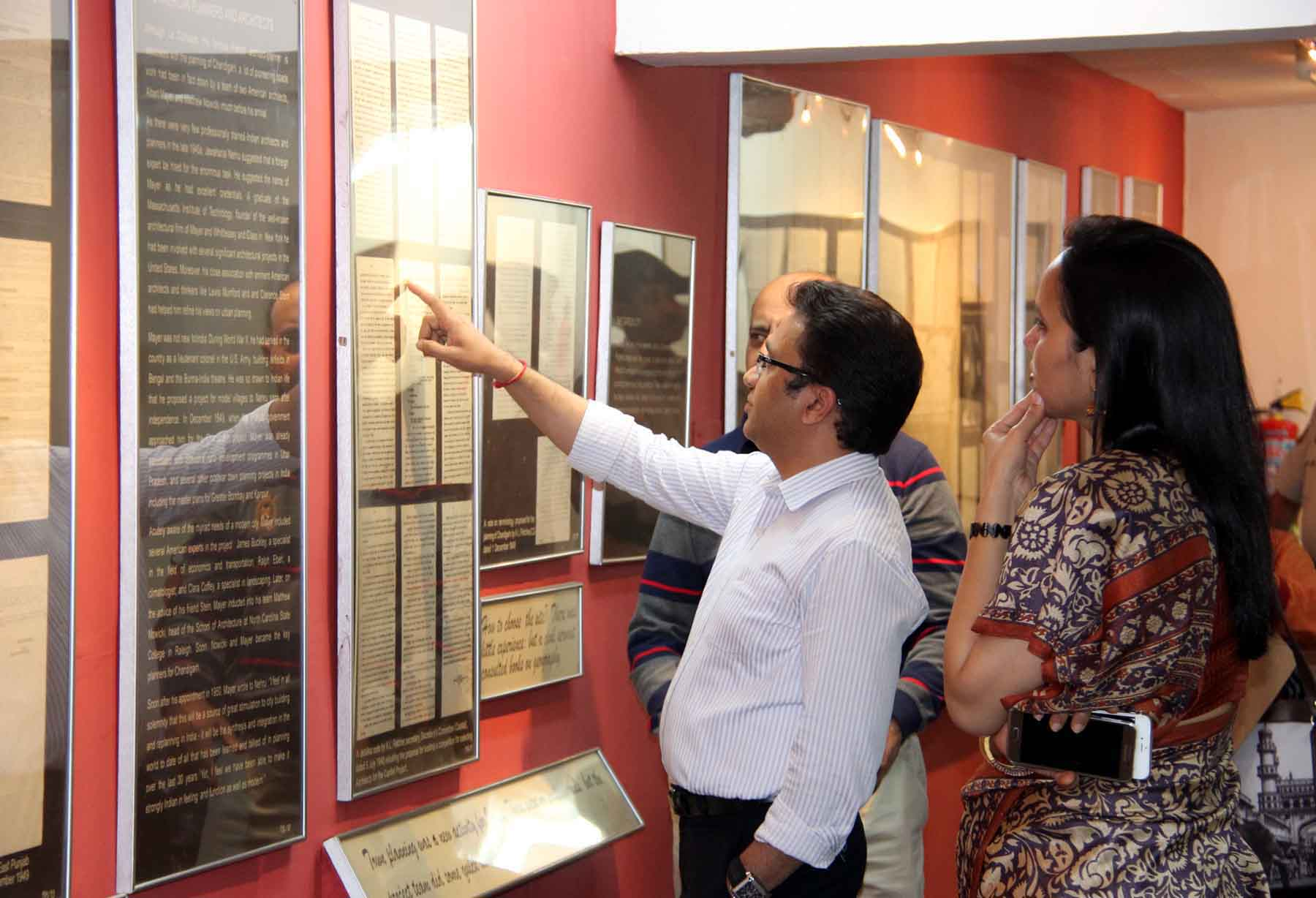 UT Home Secretary, Mr. Anurag Agarwal alongwith senior officers visiting Chandigarh Architecture Museum at Govt. Museum & Art Gallery, Sector-10, Chandigarh on Friday, March 27, 2015.