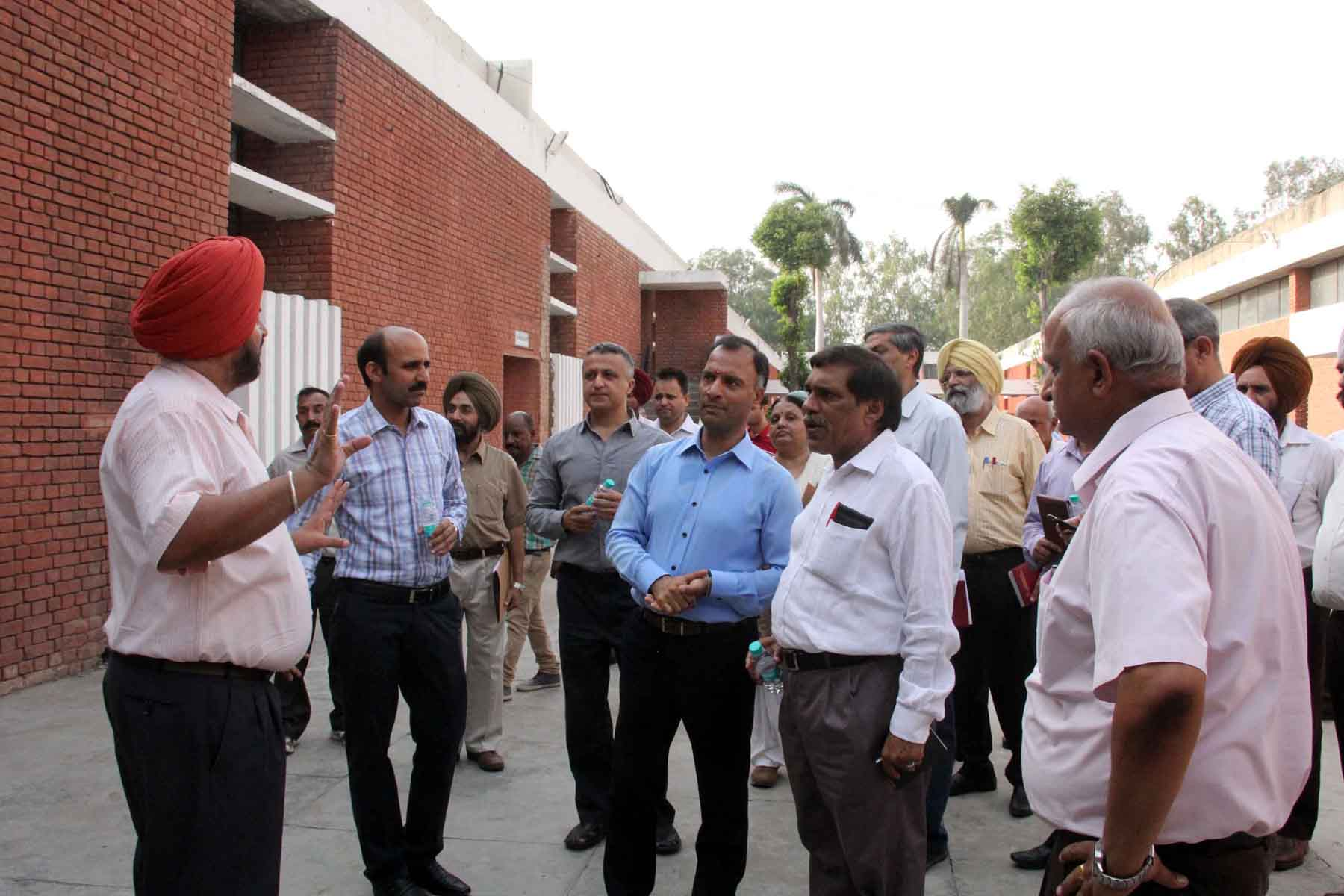 The Adviser to the Administrator, UT, Chandigarh, Mr. Vijay Dev alongwith senior  officers visiting at ITI, Sector-28, Chandigarh on Tuesday, May 26, 2015.