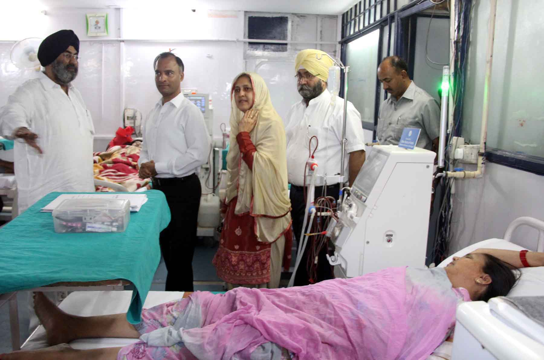 The Adviser to the Administrator, UT, Chandigarh, Mr. Vijay Dev alongwith senior officers visiting at Dr. S Inderjit Singh Charitable Hospital at  IMA Complex, Sector-35, Chandigarh on Wednesday, May 27, 2015.