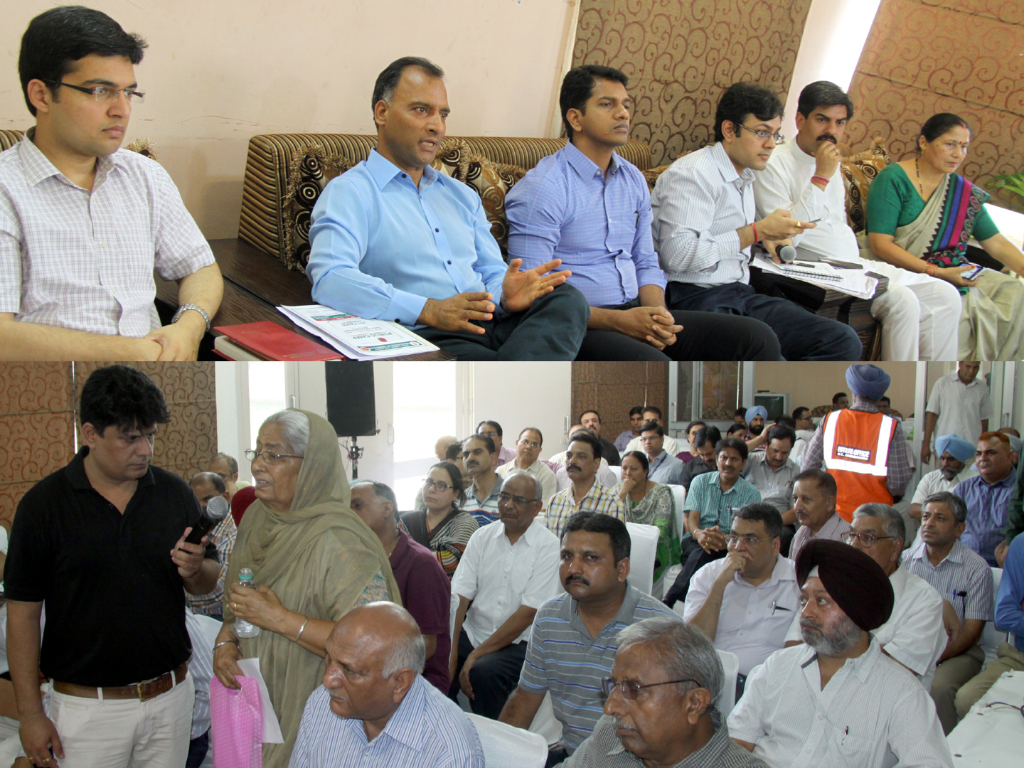 The Adviser to the Administrator, UT, Chandigarh, Mr. Vijay Dev alongwith senior officers listening grievances of residents in a Estate Office Public Camp at Rose Club,  Sector-16, Chandigarh on Wednesday, July 29, 2015.