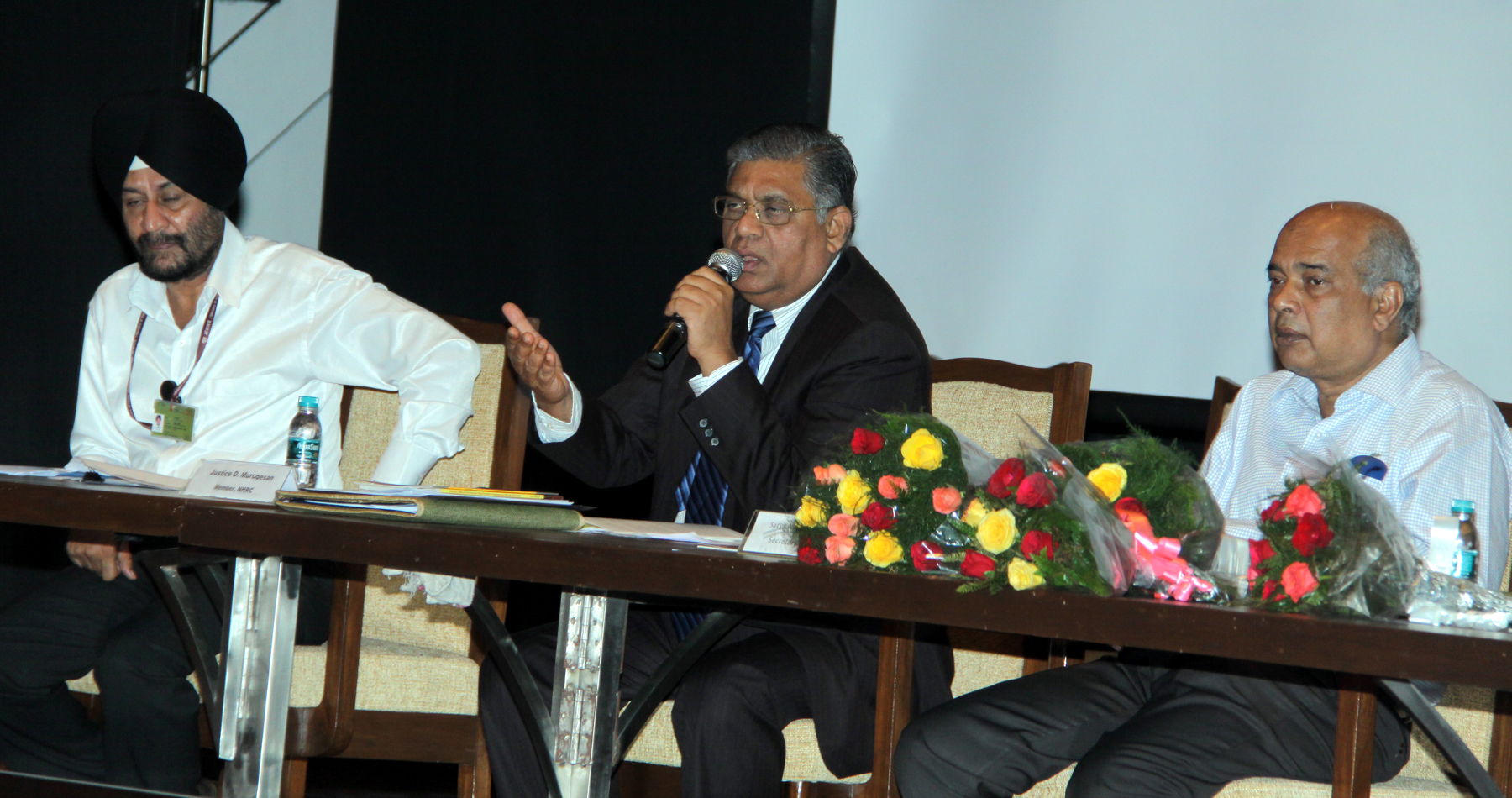 Mr. Justice D. Murugesan, Hon�ble Member, NHRC addressng in the one day Regional Workshop on elimination of Bonded Labour at Chandigarh Judicial Academy, Sector-43, Chandigarh on Thursday, July 30, 2015.