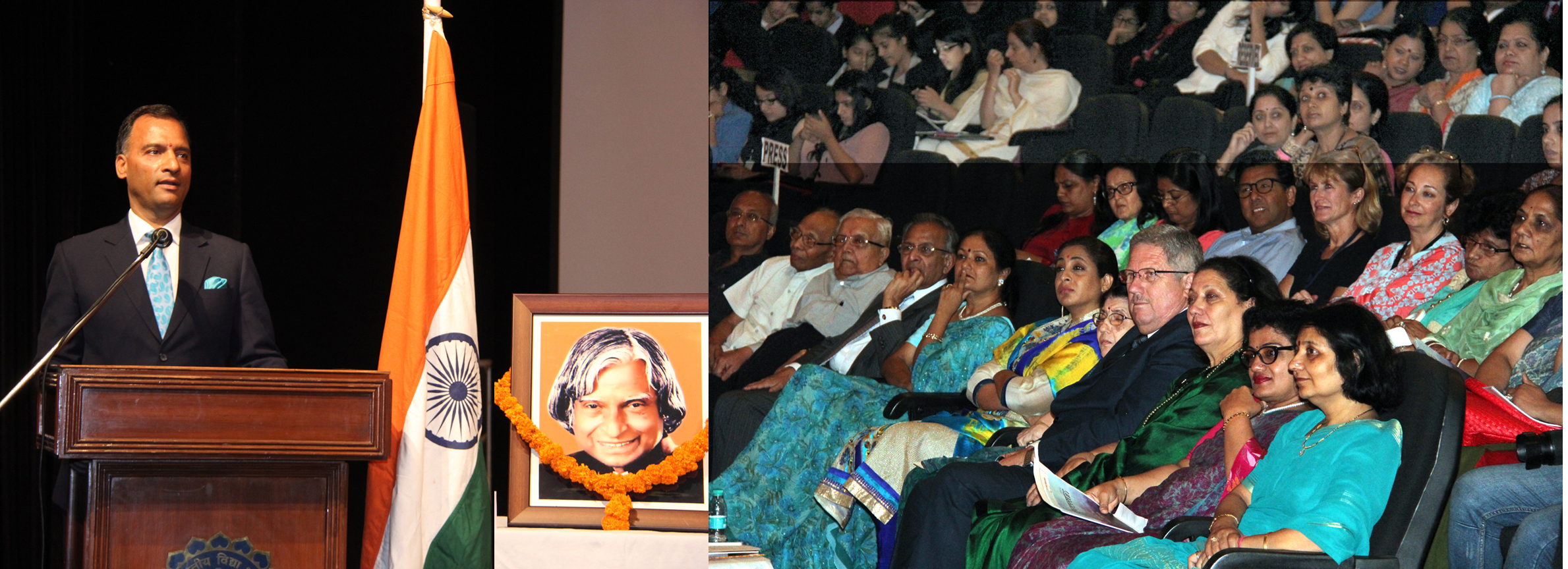 The Adviser to the Administrator, UT, Chandigarh, Mr. Vijay Dev addressng in the Bhavan Vidyalaya, Chandigarh �Model United Nations Conference-2015� at Tagore Theatre, Sector-18, Chandigarh on Friday, July 31, 2015.
