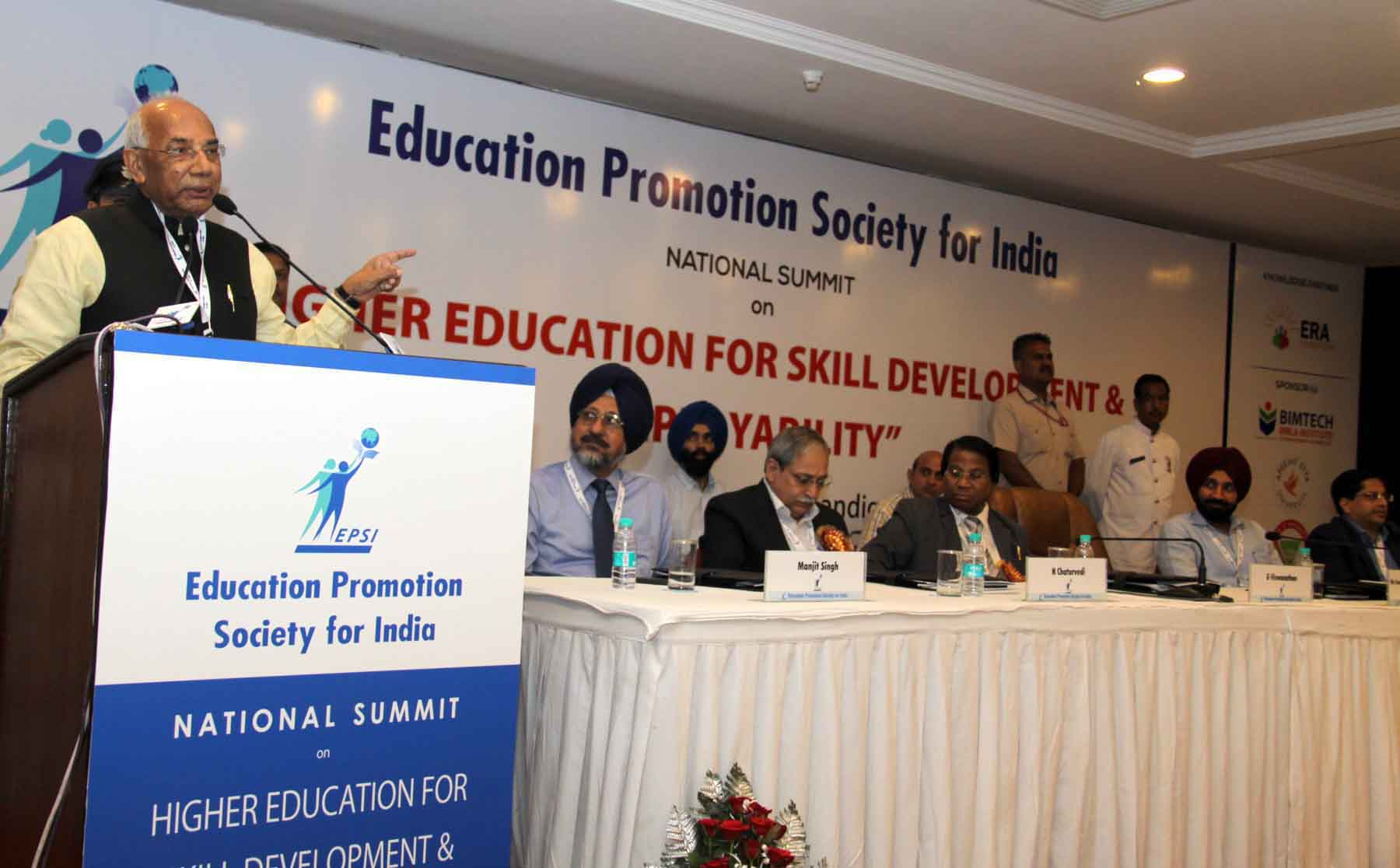 The Governor of  Punjab and Administrator, Union Territory,Chandigarh, Prof. Kaptan Singh Solanki addressing the National Summit on Higher Education for Skill Development and Employability  at Chandigarh on 08.10.2015.