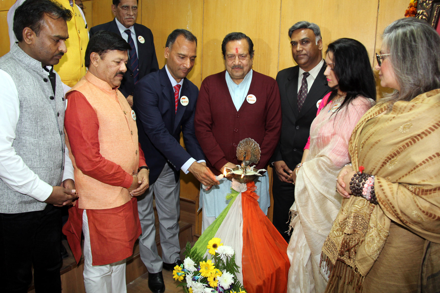The Adviser to the Administrator, UT, Chandigarh, Mr. Vijay Dev lighting the traditional lamp as Guest of Honour at the inauguration of Proxy War Through Drugs Seminar in Golden Jubilee Hall Panjab University Chandigarh on Wednesday, February 10, 2016.