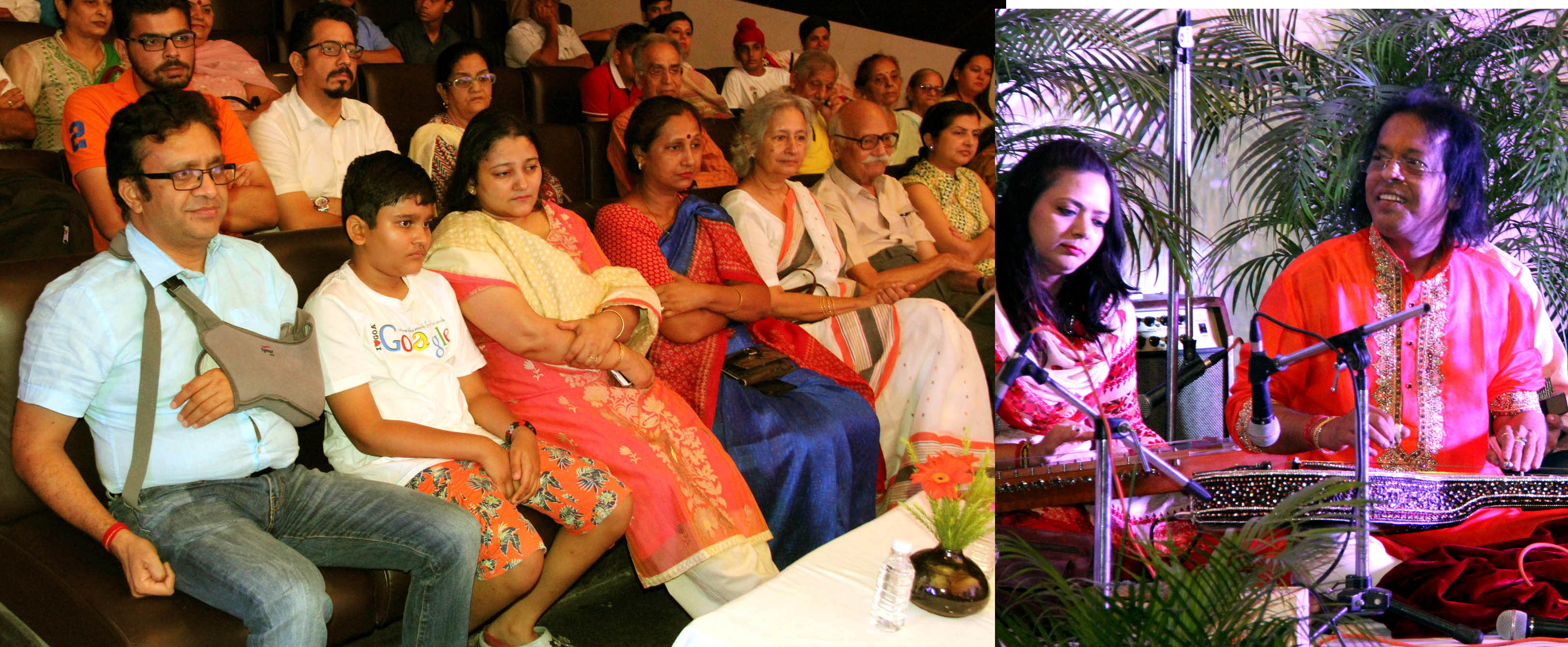 UT Home Secretary, Shri Anurag Agarwal alongwith  with family witnessing the Swar Raagini Instrumental by Pt. Subhash Ghosh at Govt. Museum& Art Gallery Sector 10 Chandigarh on Tuseday July 26,2016.