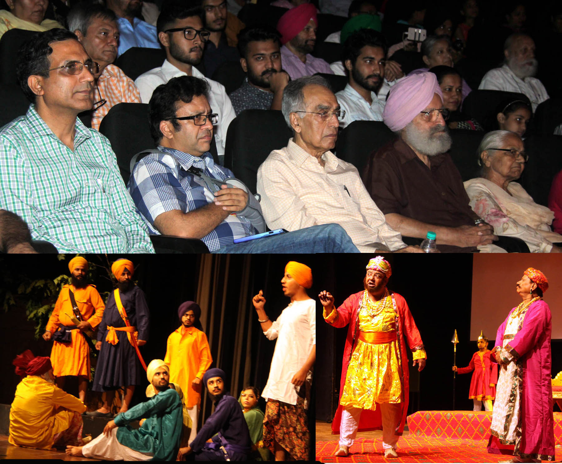 UT Home Secretary, Shri Anurag Agarwal alongwith others witnessing the �Light Sight & Sound Programme� on the life of Baba Banda Singh Bahadur  at Tagore Theatre, Sector-18, Chandigarh on Thursday, July 28, 2016.