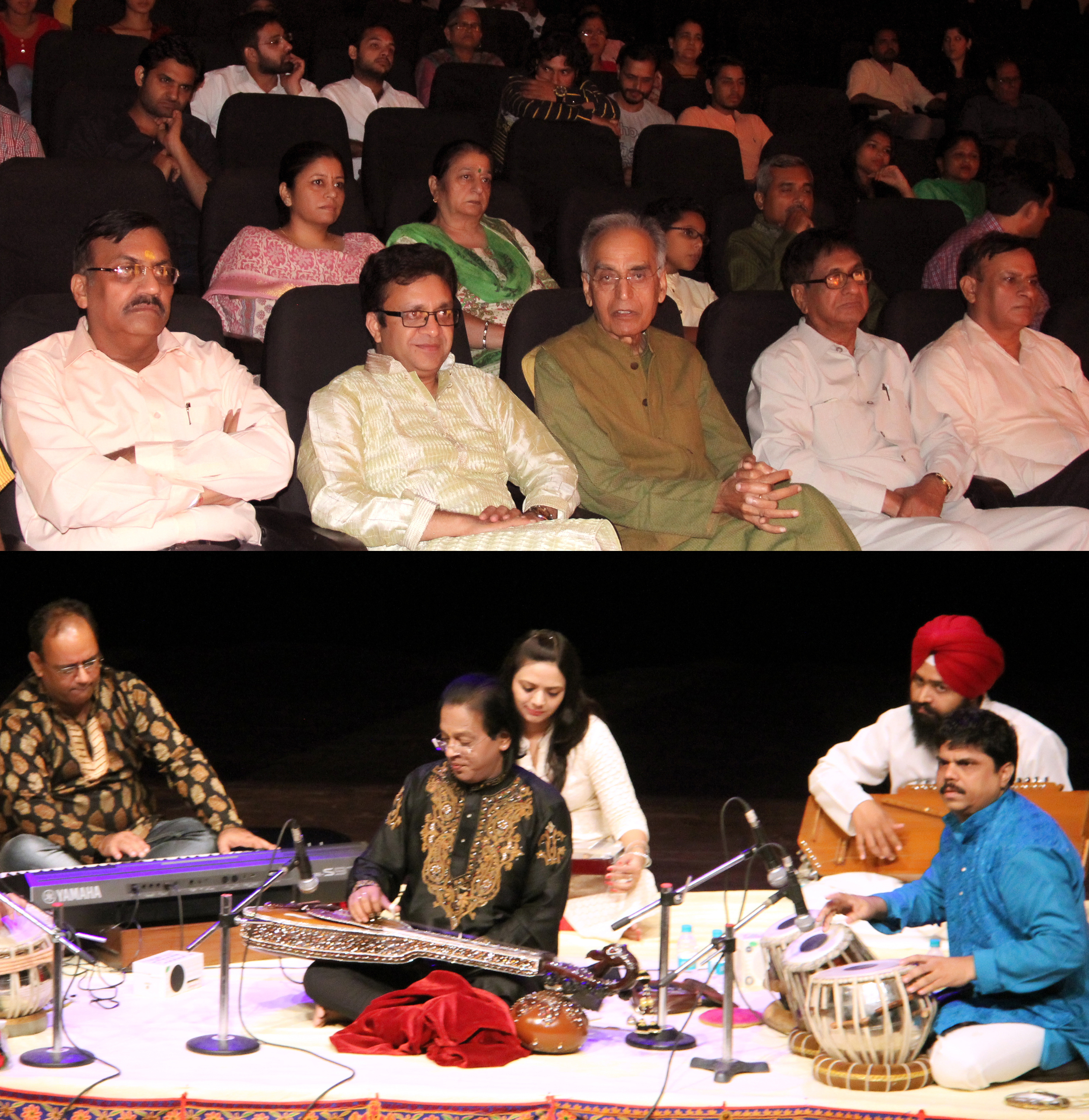 UT Home Secretary, Shri Anurag Agarwal alongwith senior officers witnessing  Swar Ragini Recital by Sh. Subhash Ghosh at Tagore Theatre, Sector-18, Chandigarh on Saturday, October 22, 2016.