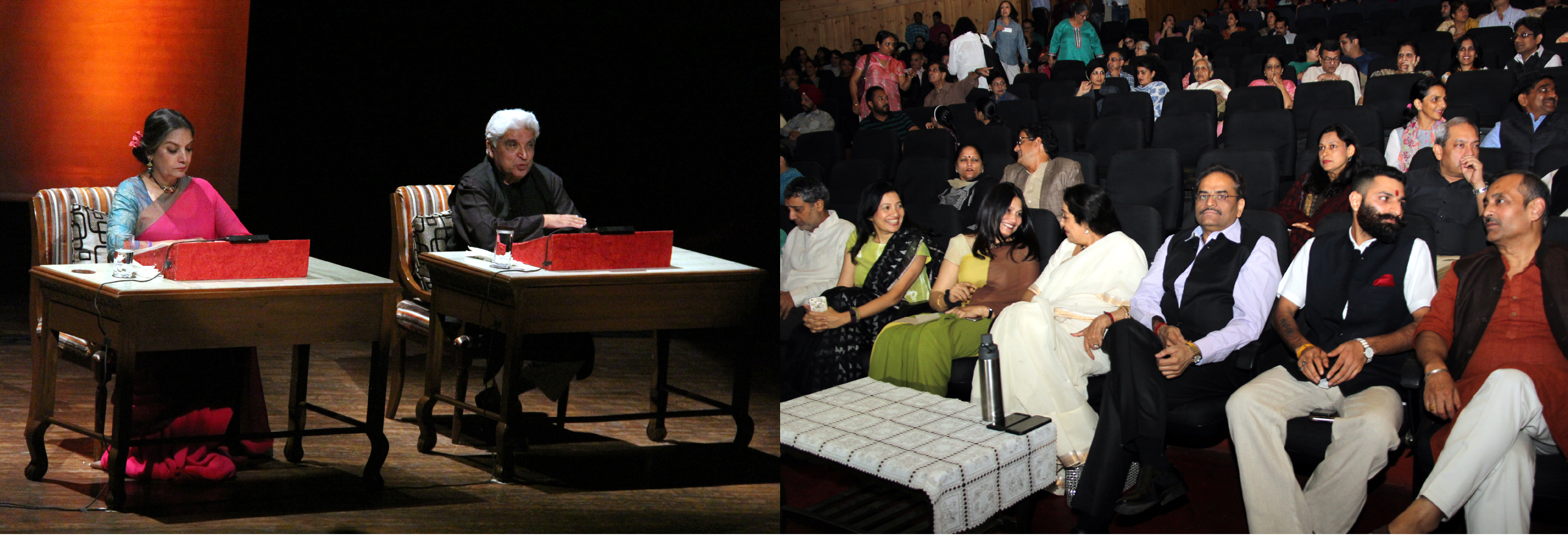 Smt. Kirron Kher, Member of Parliament, Chandigarh, alongwith senior officers Chandigarh Administration witnessing Kaifi aur Main a poets romantic saga at Tagore Theatre, Sector-18, Chandigarh on Sunday, October 23, 2016.