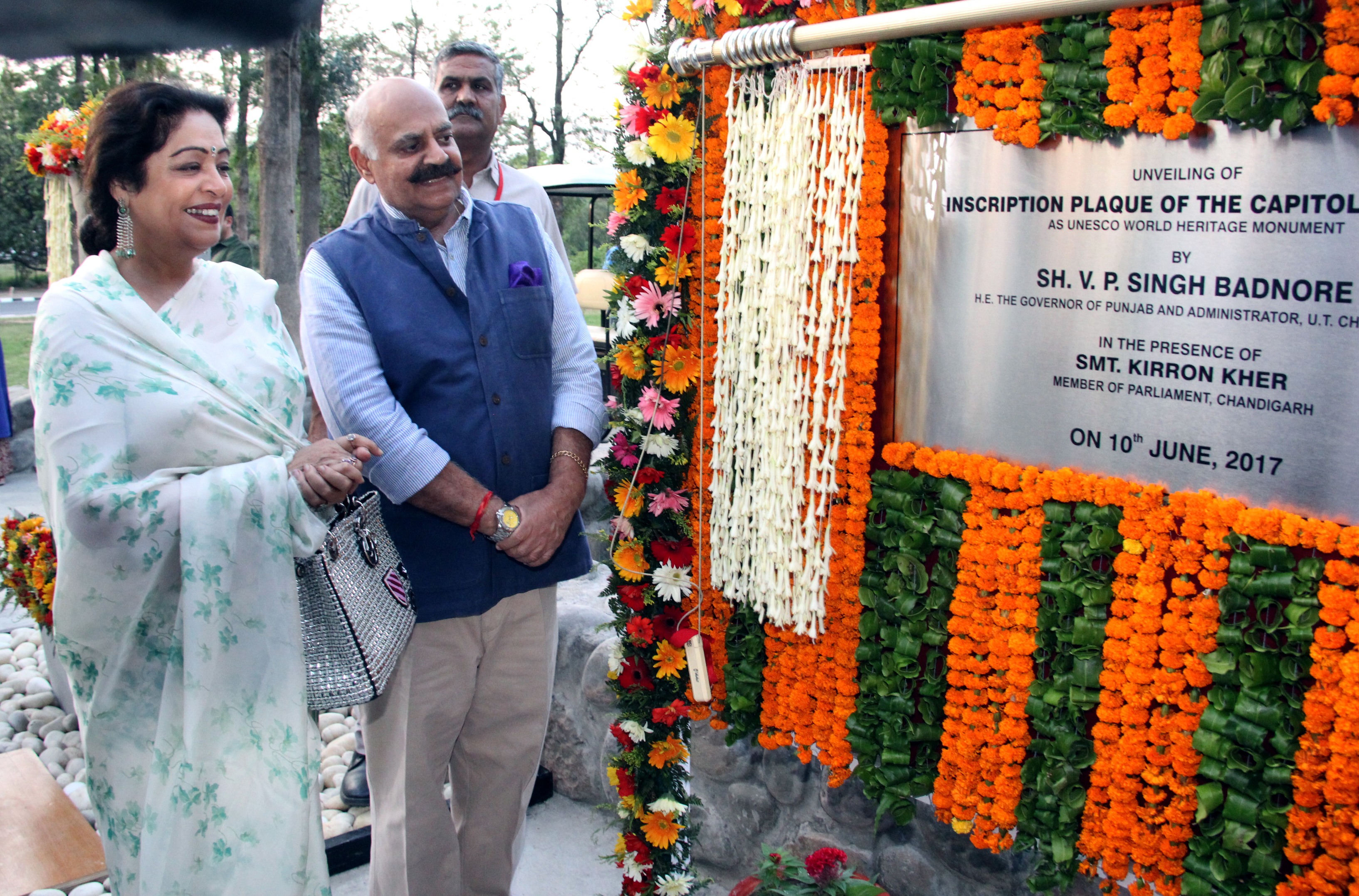 VP Badnore unveiled UNESCO plaque at Chandigarh's Capitol Complex