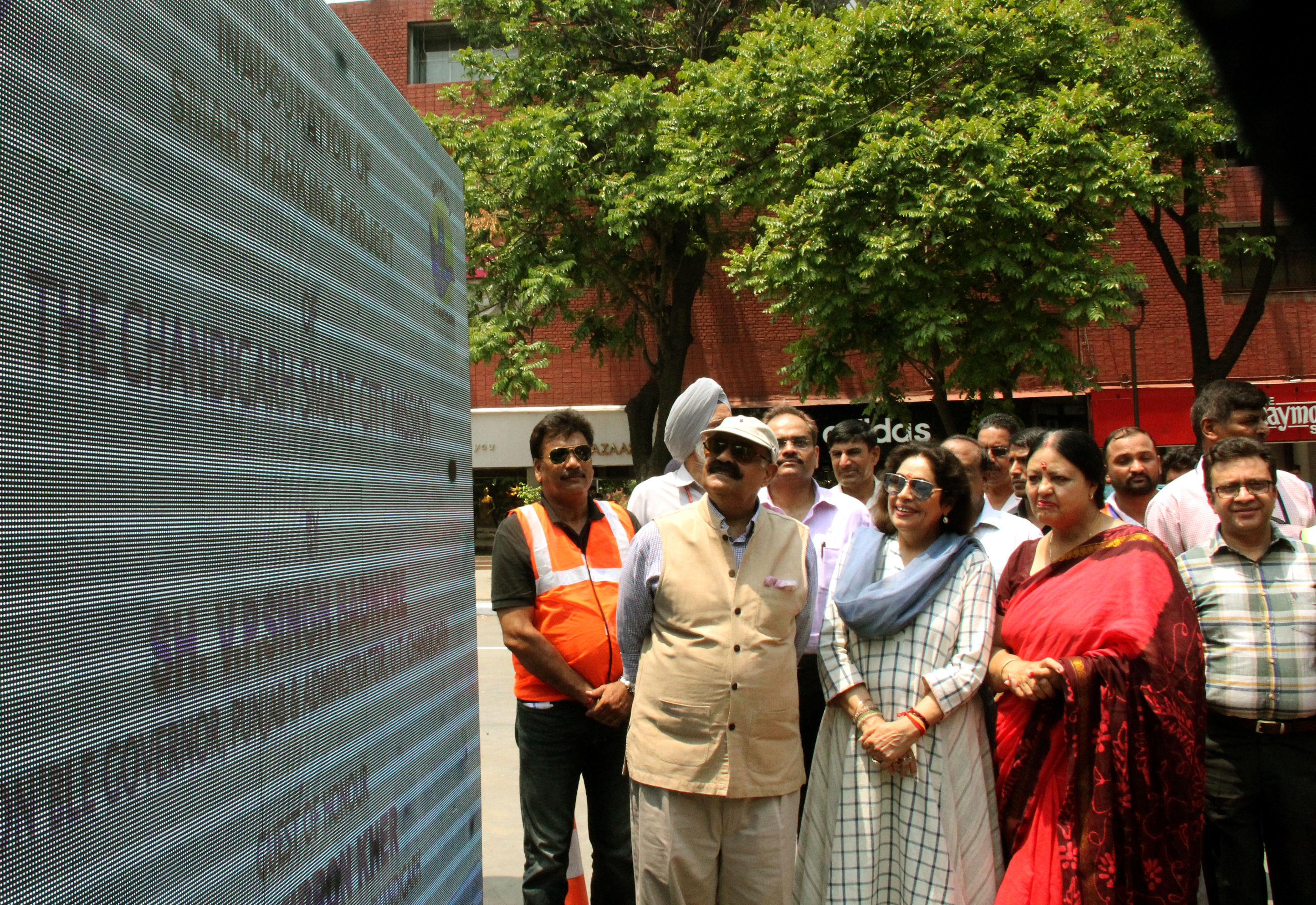 The Governor of Punjab and  Administrator, UT, Chandigarh Shri V.P. Singh Badnore alongwith Smt. Kirron Kher, Member of  Parliament Chandigarh,inaugurating the Smart Parking project at Sector 17 , Chandigarh on Sunday, June 25, 2017.
